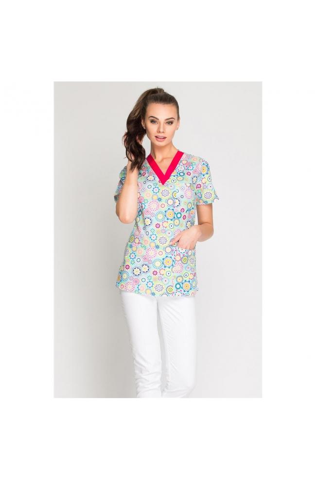 Bluza medyczna damska Print-293