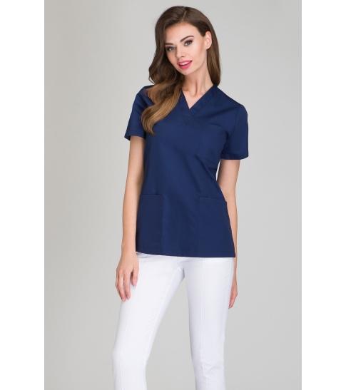 Bluza medyczna damska granatowa-378