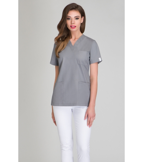 Bluza medyczna damska szara-408