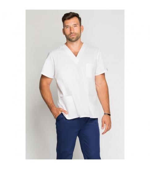 Bluza medyczna męska biała