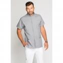 Bluza medyczna męska ze stójką szara