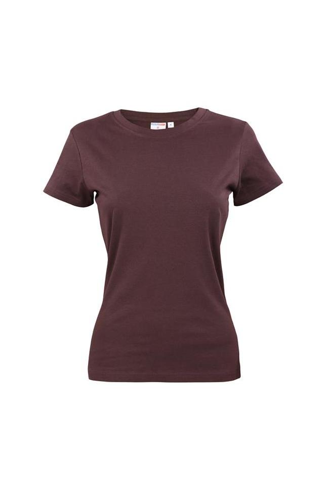 T-Shirt damski brązowy -130