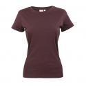 T-Shirt damski brązowy