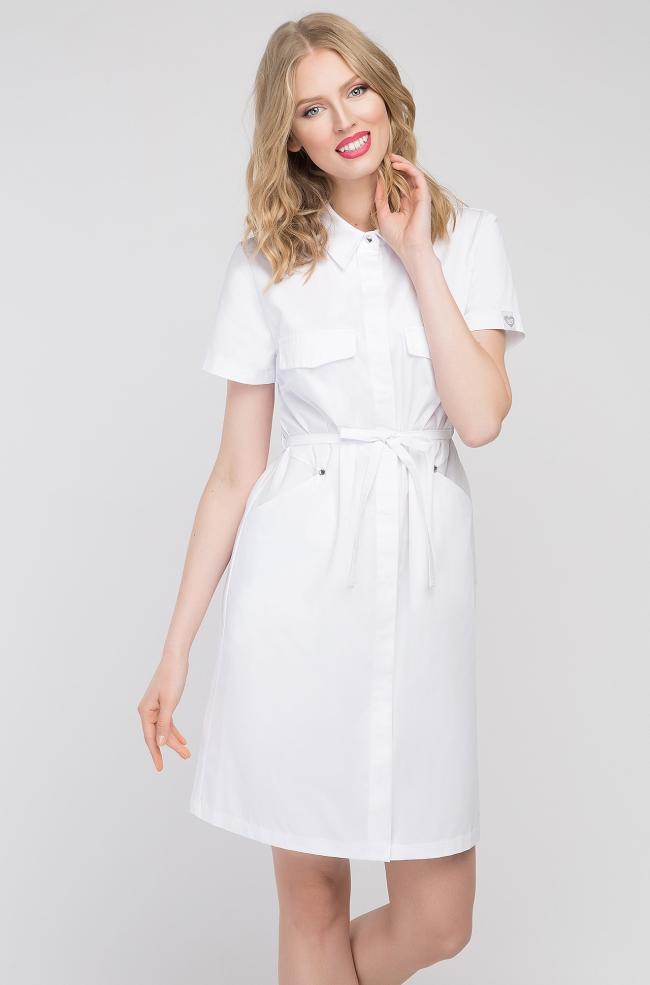 Sukienka medyczna Sportivo biała-285