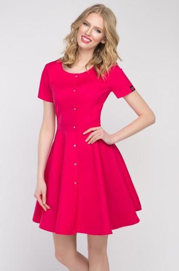 Sukienka kosmetyczna Marilyn amarantowa
