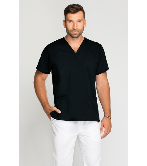 Bluza medyczna męska czarna-277