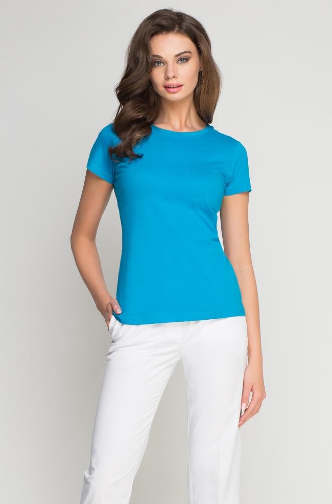 T-Shirt damski turkusowy -261