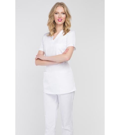 Bluza medyczna damska biała