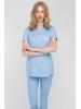 Fartuszek medyczny wiązany spa 4 błękitny