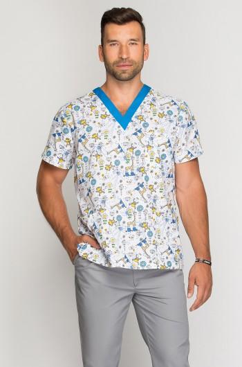 Bluza medyczna męska Zwariowane Zoo-274