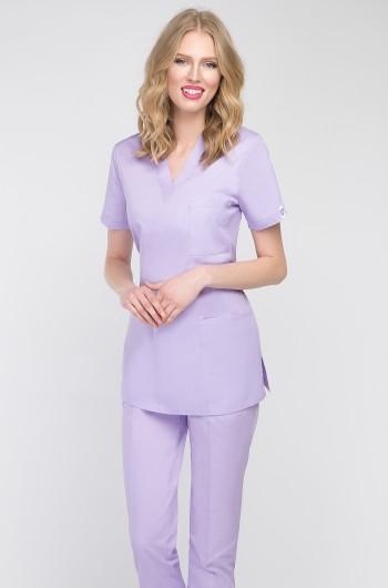 Bluza medyczna damska wrzosowa