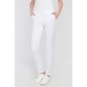 Spodnie medyczne rurki białe długie
