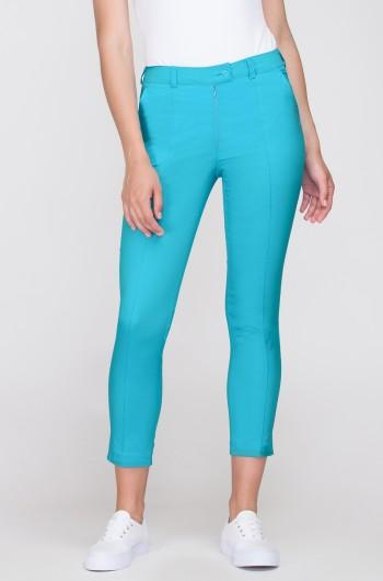 Spodnie kosmetyczne cygaretki turkusowe