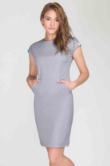Sukienka kosmetyczna Vena Szara-388